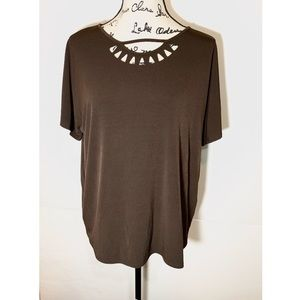 Chico's Cut Out Triangle Blouse